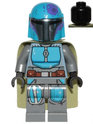 LEGO sw1080 Mandalorian Tribe Warrior - Male, Olive Green Cape