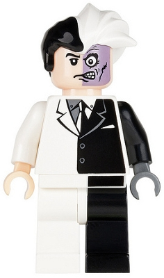 LEGO bat004 - Two-Face with Black Stripe Hips