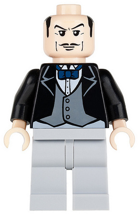 LEGO bat014 - Alfred Pennyworth, the Butler - Bow Tie