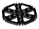 LEGO 64566 - Black Technic, Plate Rotor 6 Blade with Clip Ends Connected