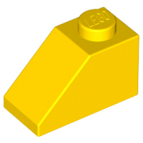 LEGO 3040 - Yellow Slope 45 2 x 1
