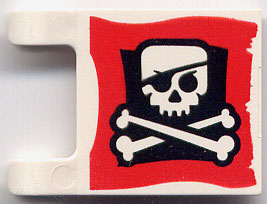 LEGO 2335pb008 - Flag 2 x 2 Square with Skull and Crossbones
