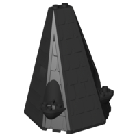 LEGO 33215 - Black Tower Roof 6 x 8 x 9