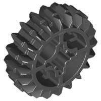 LEGO 32269 - Black Technic, Gear 20 Tooth Double Bevel