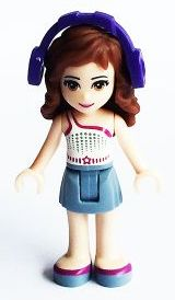 LEGO frnd109 - Friends Olivia, Sand Blue Skirt