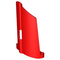 LEGO 44350 - Red Technic, Panel Fairing #20 Large Long, Small Hole, Side A