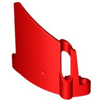 LEGO 44325 - Red Technic, Panel Fairing #22 Large Short, Small Hole, Side A