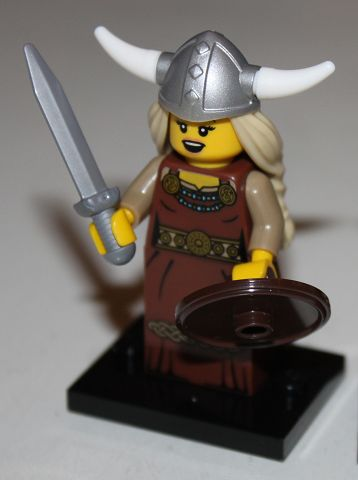 LEGO col07-13 - Viking Woman - Complete Set