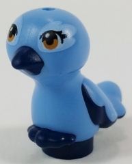 LEGO 35074pb03 - Bird, Friends / Elves, Feet Joined with Medium Blue Body