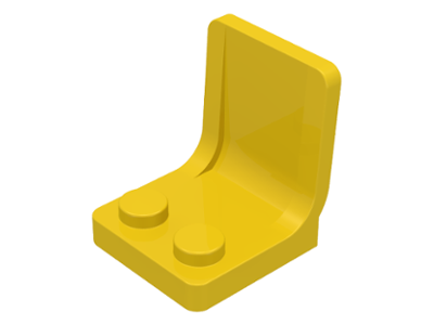 LEGO 4079 - Yellow Minifig, Utensil Seat (Chair) 2 x 2