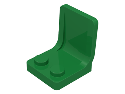 LEGO 4079 - Green Minifig, Utensil Seat (Chair) 2 x 2