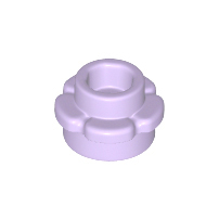 LEGO 24866 - Lavender Plate, Round 1 x 1 with Flower Edge (5 Petals)