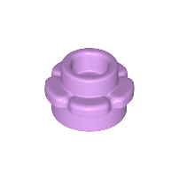 LEGO 24866 - Medium Lavender Plate, Round 1 x 1 with Flower Edge