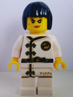 LEGO njo430 - Nya - White Wu-Cru Training Gi, Black Bob Cut Hair