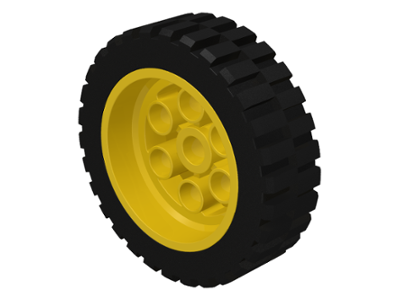 LEGO 2695c01 - Yellow Wheel 30mm D. x 13mm (13 x 24 Model Team)