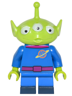 LEGO dis002 - Pizza Planet Alien - Minifig only Entry