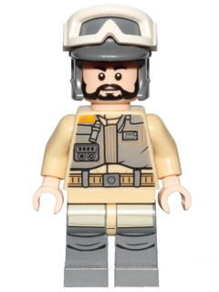 LEGO sw803 - Rebel Trooper, Goggles, Gray Helmet, Black Beard