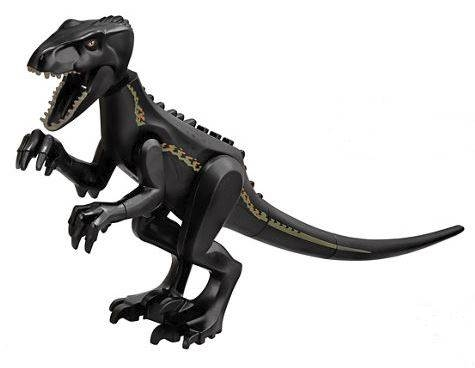 LEGO Indo01 - Dino Indoraptor with Black Body and Back