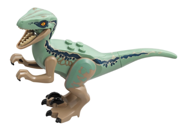 LEGO Raptor09 - Dino Raptor with Black Claws and Dark Blue Stripes on Sides