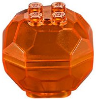 LEGO 30294c01 - Trans-Orange Rock Boulder, Complete Assembly