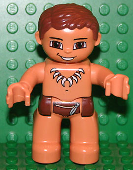 LEGO 47394pb098 - Duplo Figure Lego Ville, Male, Flesh Legs, Reddish Brown Hips
