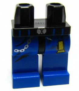 LEGO 70c07pb03 - Hips and Blue Legs with Flashlight and Chain Pattern