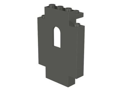 LEGO 4444 - Dark Gray Panel 2 x 5 x 6 Wall