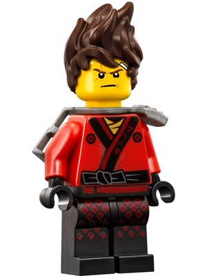 LEGO njo317 Kai - Hair, Flat Silver Katana Holder, The LEGO Ninjago Movie (70617)