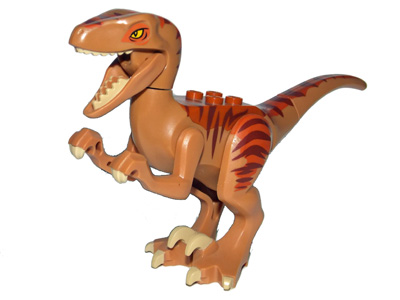 LEGO Raptor03 Dino Raptor with Tan Claws and Dark Orange and Dark Brown Back