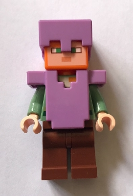 LEGO min055 - Alex - Medium Lavender Helmet and Armor
