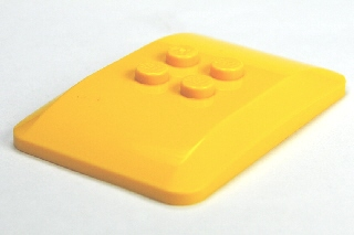 LEGO 98281 - Yellow Wedge 6 x 4 x 2/3 Quad Curved