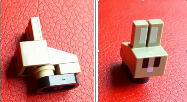 LEGO minebunny01 Minecraft Bunny / Rabbit Baby - Complete Assembly