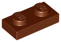 LEGO 3023 Reddish Brown Plate 1 x 2