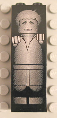 LEGO sw984 Han Solo in Carbonite (Brick 1 x 2 x 5)