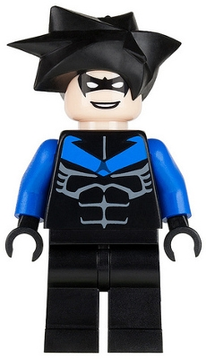 LEGO bat015 Nightwing - Blue Arms and Chest Symbol