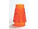 LEGO 4589 Trans-Neon Orange Cone 1 x 1 with Top Groove