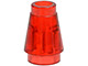 LEGO 4589 Trans-Red Cone 1 x 1 with Top Groove