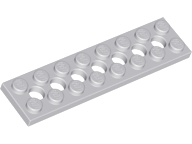 LEGO 3738 Light Bluish Gray Technic, Plate 2 x 8 with 7 Holes