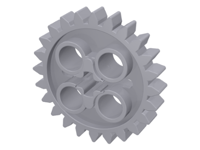 LEGO 3648 Light Bluish Gray Technic, Gear 24 Tooth