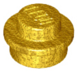 LEGO 4073 Pearl Gold Plate, Round 1 x 1 Straight Side