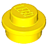 LEGO 4073 Yellow Plate, Round 1 x 1 Straight Side