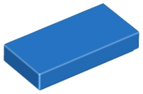 LEGO 3069b Blue Tile 1 x 2 with Groove