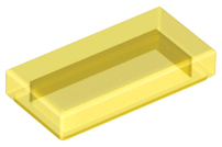 LEGO 3069b Trans-Yellow Tile 1 x 2 with Groove