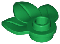 LEGO 32607 Green Plant Plate, Round 1 x 1 with 3 Leaves