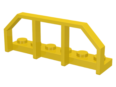 LEGO 6583 Yellow Plate, Modified 1 x 6 with Train Wagon End