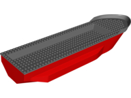 LEGO 62791c01 Red Boat Hull Unitary 51 x 12 x 6 with Side Bulges and Dark Bluish Gray TopLEGO