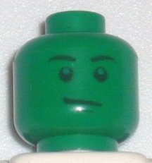 LEGO 3626bpb0403 Minifigure, Head Male Stern Black Eyebrows