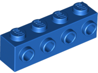 LEGO 30414 Blue Brick, Modified 1 x 4 with 4 Studs on 1 Side
