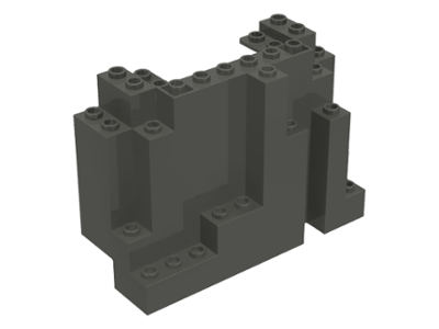 LEGO 6082 Dark Gray Rock Panel 4 x 10 x 6 Rectangular