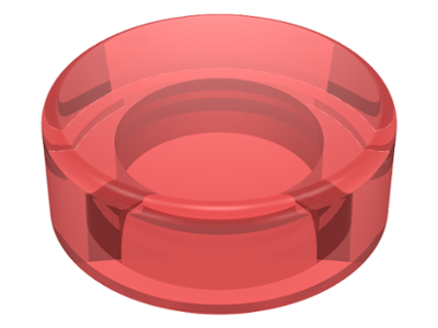 LEGO 98138 Trans-Red Tile, Round 1 x 1